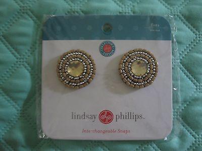 Lindsay Phillips Pair of Flora Shoe Snaps Rare & Cute!   NIP