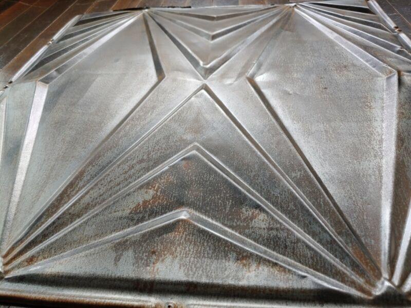 Ceiling Tin Tile Antique Metal Art Deco Vintage Home Decor Craft industrial #14