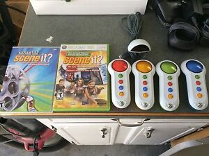 XBOX 360 Scene It? Games and Controllers