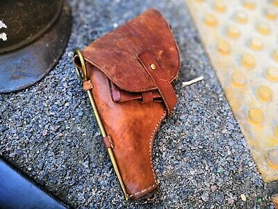 Original marked WWI Russian M1895 Nagant Revolver leather left-handed holster! for sale  Shipping to Canada