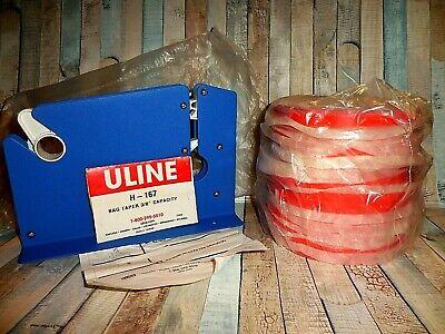 Uline H167 Bag Taper 14 Rolls Red Bag Tape S-387  38 Red Bag Tape