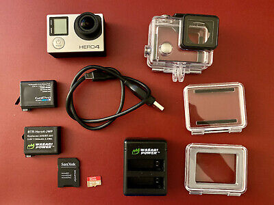 GoPro Hero 4 Silver with Batteries and SD Card