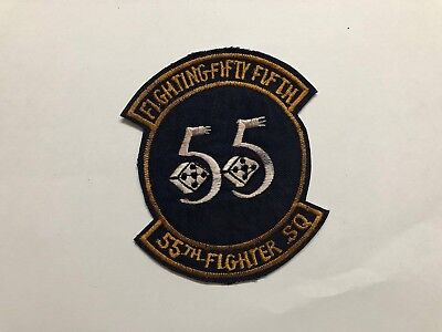 -  PATCH ,  USAF ,  FIGHTING 55 , 55TH FIGHTER SQ