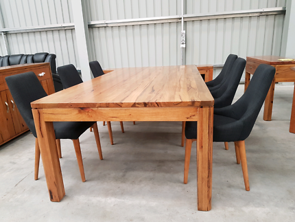 New 2400 Solid Marri Timber Dining Table