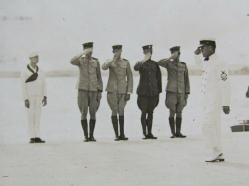 1918 US NAVY SUBMARINE BASE &  AVIATION STATION 2 PHOTO AVIATION REVIEW PASS