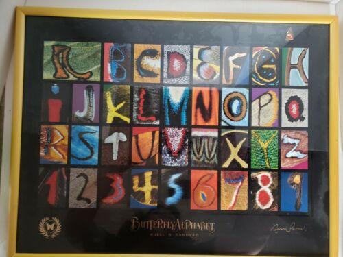 Butterfly Alphabet Picture KJell Sandved Print ABC Numbers Education Framed Art