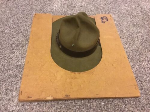 Vintage Antique Boy Scouts Official Scoutmaster Scout Master Hat  Oval-size7 1/8