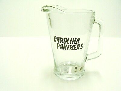 - Carolina Panthers NFL Football 60 oz Glass Beer Pitcher Tailgating 91273