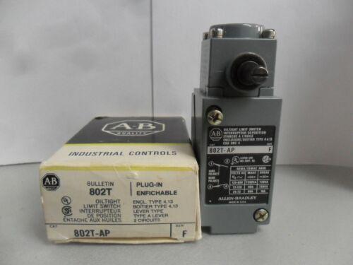 New Allen Bradley 802T-AP Plug-in Oiltight Side Rotary Limit Switch Series F NIB