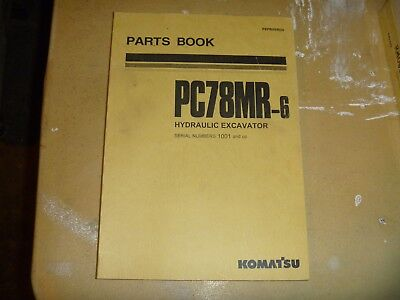 Komatsu Pc78mr-6 Hydraulic Excavator Trackhoe Crawler Parts Catalog Manual