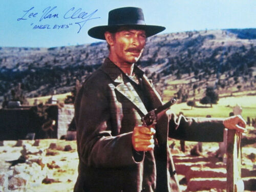 Lee Van Cleef Good Bad Ugly  Autographed Signed 8x10 Photo Reprint