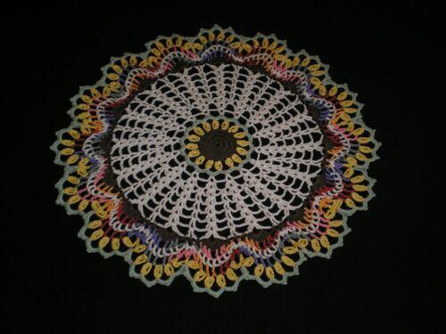New Handmade Doily Crocheted  Sunflowers