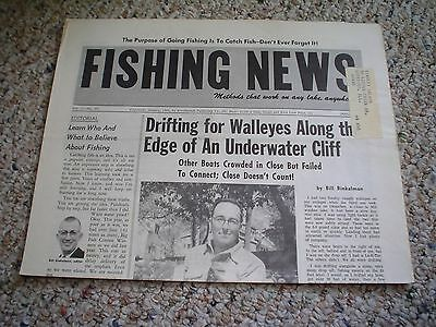 Fishing News January 1968  Vol  1 No  50 Drifting For Walleyes Along Cliffs Rare