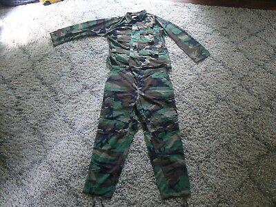 US Military Woodland BDU Set Coat Top Pants Trousers Large Regular Large Long A