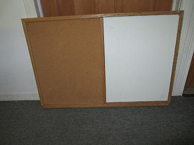 Dry Erase Board Cork Board Combo Info Center 24 X 36 Good Used Condition