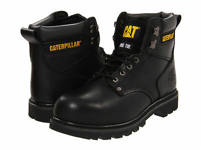 Men Caterpillar Second Shift Steel Toe Work Boot P89135 Black 100% Authentic New Black Steel Toe Work Boot