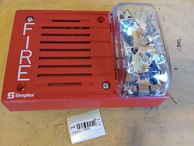 Simplex 4903-9252 Hornvisible Fire Notification Unit 24vdc 15cd Red