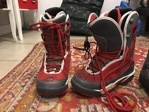 2 women snowboard boots