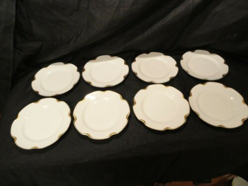 Set of 8 Limoges Haviland Silver Anniversary Bread Plates 7 1/4""