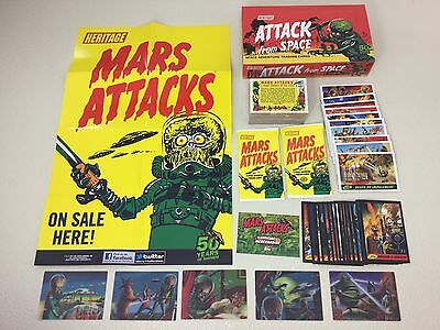 MARS ATTACKS Topps 2012 Heritage Set w/ Attack From Space Box, 3D Set & MORE !