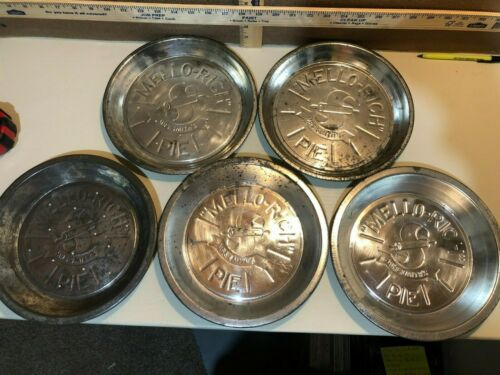 5 Vintage Mrs.Smith Mello Rich Pie Pan / Tin