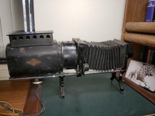 Antique Brenkert Slide Projector Model D1 Made In Detroit c1920 w/Original Case