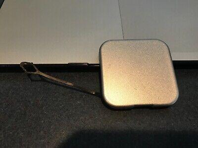 04-09 OEM Cadillac SRX SUV front bumper tow cap cover plug square SILVER
