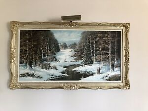 Winter scene - Original oil on canvass