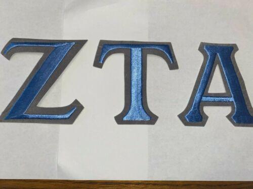 "Zeta Tau Alpha 4"" Embroidered Greek Letters VINTAGE RARE"