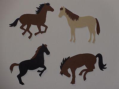 4 horses die cuts scrapbooking horse die cut