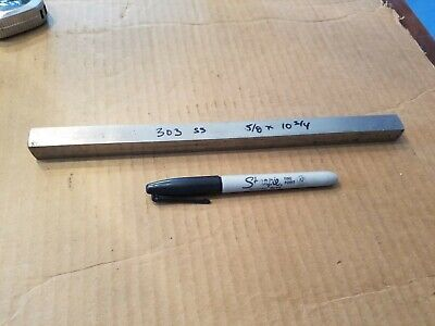 303 Stainless Steel Square Bar 58 X 10-34 Machine Stock