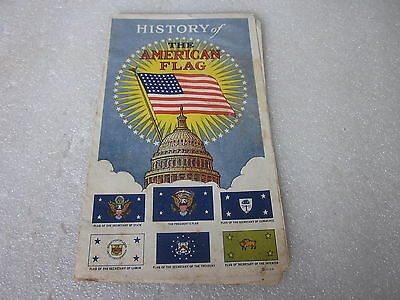 vintage History of the American Flag advertising booklet