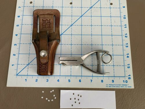 Vintage  Holster & B-V Ticket PUNCH Puncher USED IN DENVER IN THE EARLY 80