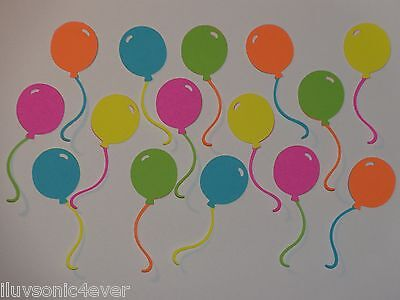 """15 neon color balloons die cuts 2 1/2"""""""