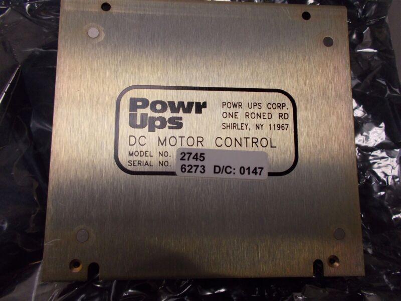 Powr UPS Dc Motor Control Model 2745