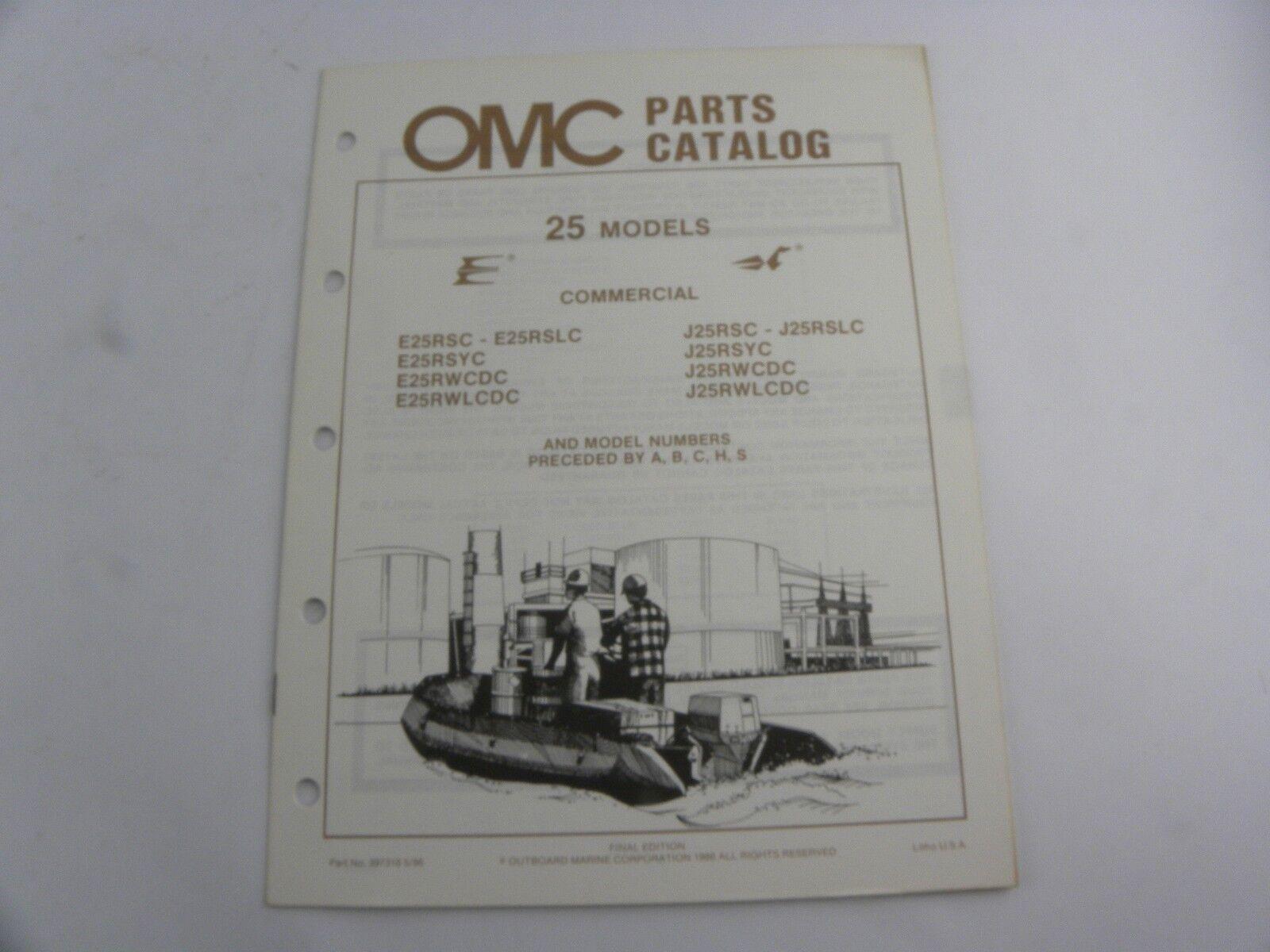 Evinrude Johnson 25 Models Outboard Motor Parts Catalog Manual 1986 OMC