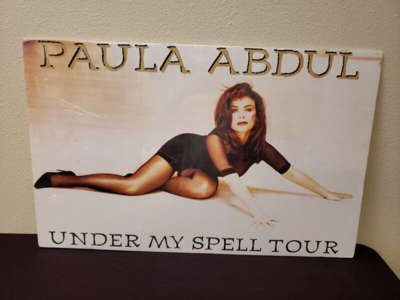 "Paula Abdul Foam Core Poster Sexy Under My Spell Tour New 35"" x 22"""