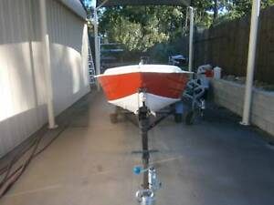 Tinny  12 ft on trailer For Sale