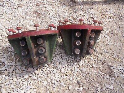 Oliver Super 77 S77 Tractor M704b 9 Bolt 3 U Bolt Mount Rear Axle Hubs Hub