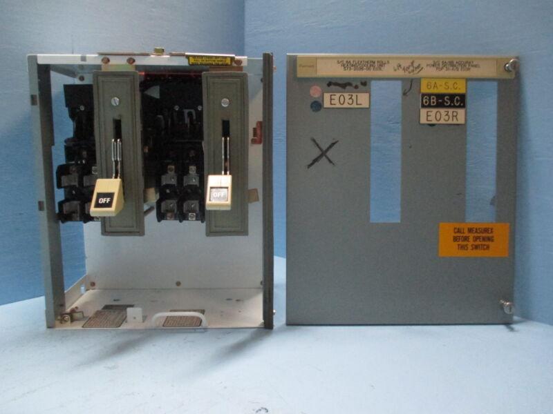 "Siemens Tiastar Furnas 89 60 Amp Fused Dual Feeder 18"" MCC MCCB Bucket 60A"
