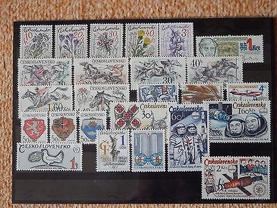 Briefmarken-Lot CSSR ** aus 1978-1986 (37 Marken und 2 Blocks) postfrisch
