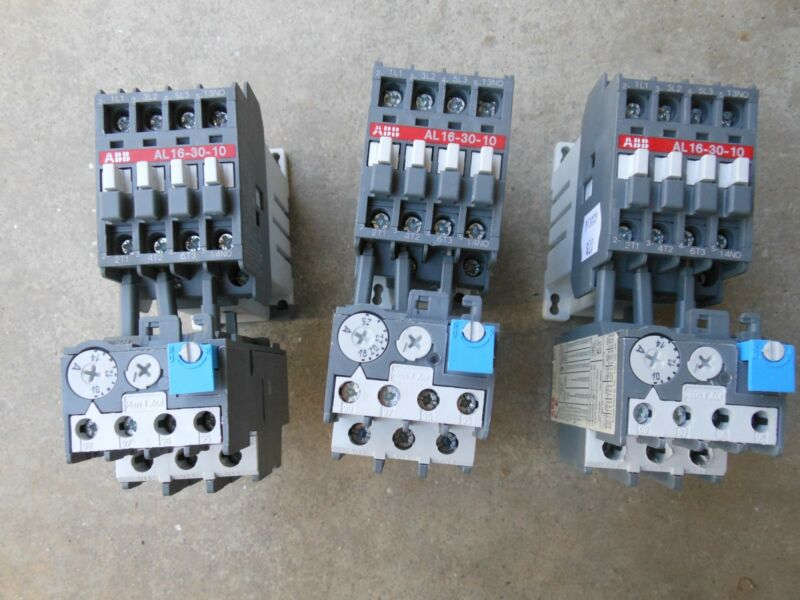 ABB AL16-30-10 & TA25 Thermal overload & contactor control relay warranty!