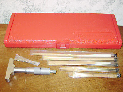 Mitutoyo 0-6 Inch Depth Micrometer Set No 129-128 W Red Case