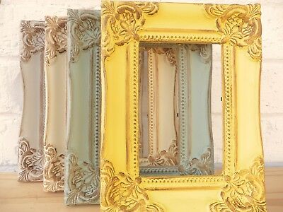 Ornate/Vintage/Photo/Picture Frame/Shabby Chic/Choice 2 Sizes/4 Colours/Retro