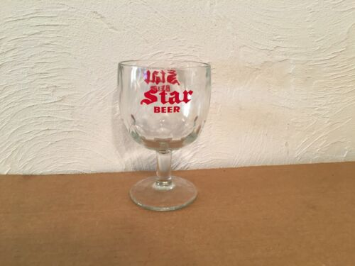 Dubuque Star Goblet Beer Glass (Nice)