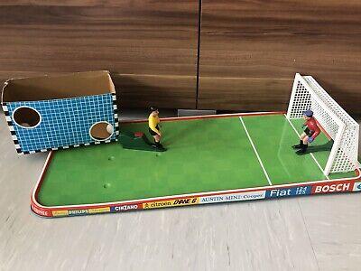 DDR Spielzeug Fussball Spiel Torwarte Blech Tor Kunststoff Figur Top Selten
