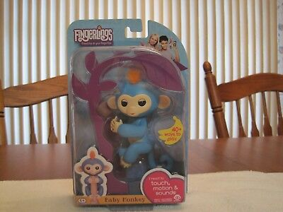 Wowwee Fingerlings Interactive Blue Baby Monkey Boris  New  Factory Sealed