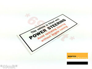 NEW-Caution-Power-Steering-Decal-for-GMH-Holden-HK-HT-HG-Kingswood-Monaro-GTS