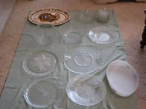 GLASS DISHES/PLATTERS/BOWLS - variety Noranda Bayswater Area Preview