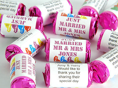 Personalised Mini Love Hearts Wedding Favours Sweets gift party just - Mini Gifts